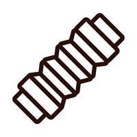 Symbol für Akkordeon-Instrumentenlinie vektor