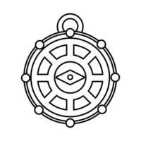 Retro-Kompass-Leitlinienstil vektor