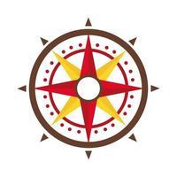 Retro-Kompass-Führer-flaches Symbol vektor