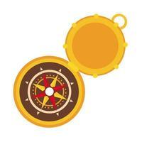 Kompass-Führungssymbol im flachen Stil vektor