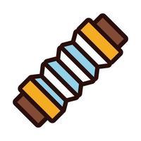 Akkordeon Instrument Linie und Füllstil Symbol vektor