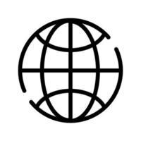 Sphäre Planet Browser Linienstilsymbol vektor