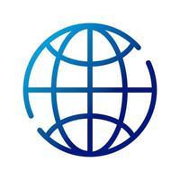 Sphäre Planet Browser-Gradienten-Stil-Symbol vektor