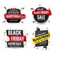 Schöner schwarzer Freitag-Verkaufsfahnen-Satzvektor