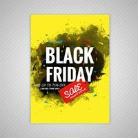 Abstrakte schwarze Freitag-Broschürenverkaufsschablonen-Vektorillustration vektor