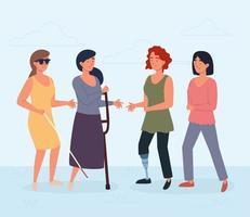 Frauen mit Behinderungen vektor