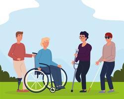 Männer mit Behinderungen vektor