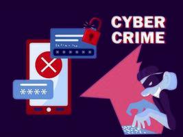 Dieb Hacker Cyberkriminalität vektor
