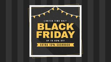 Einzigartige Black Friday Social Media Post-Vektoren