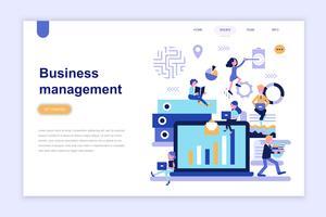 Målsida mall för företagsledning modernt plattdesign koncept. Lärande och människokoncept. Konceptuell platt vektor illustration för webbsida, webbplats och mobil webbplats.