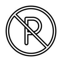 verbotenes zeichen parken transportlinie ikonendesign vektor