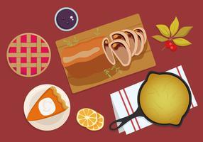 tacksägelse middag överhuvudtaget vektor