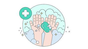 Hand waschen Vektor