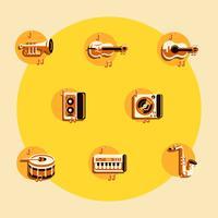 Musik Knollings Icons vektor