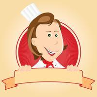Lebensmittel Banner - Chef Frau vektor
