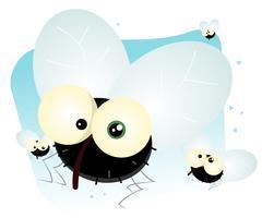 cartoon housefly vektor
