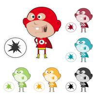 super barn klistermärke
