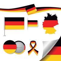 Deutschland-Flagge mit Elementen vektor