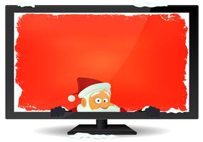 Santa meddelande inuti tv-bakgrunden
