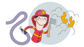 Feuerwehrmann-Vektor vektor