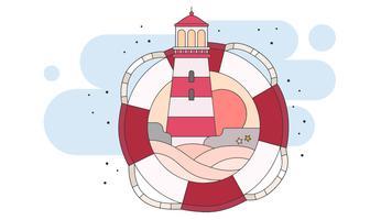 Leuchtturm-Vektor vektor