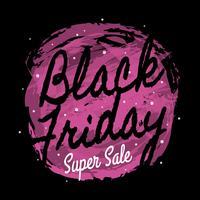 Konstnärlig svart fredag affischdesign