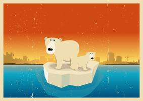 Globala uppvärmningseffekter vektor