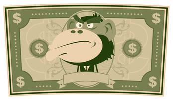 Lustiges Geld - Cartoon US-Dollar