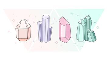 Kristalle Vektor