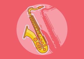 Saxophon-Vektor-Illustration vektor