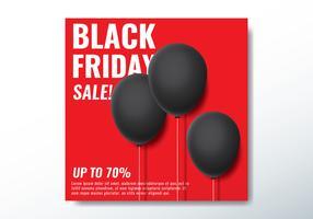 svart fredag ballong banner