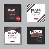 Black Friday-Social Media-Beitragsvektor vektor