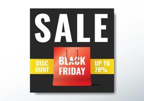 Einkaufstasche Black Friday vektor