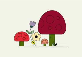 Freie Pilze Vektor