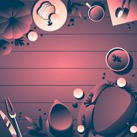 Thanksgiving-Tabelle Overhead-Vorlage vektor