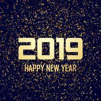 Vacker 2019 nytt år kort firande bakgrund vektor