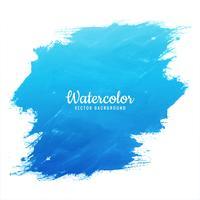 Blauer Spritzentwurfsvektor des Aquarells