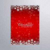 Vacker glatt jul party affisch mall design vektor