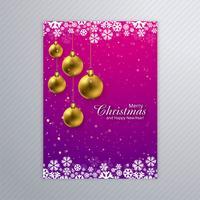 Schönes Kartenplakat der frohen Weihnachten mit Broschürenschablone BAC vektor
