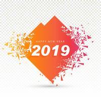 2019 Gott nytt år bakgrund kreativ design vektor