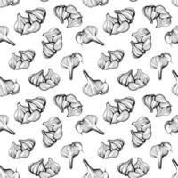 Knoblauch nahtlose Muster. handgezeichnete Vektorillustration vektor