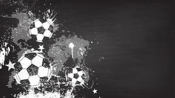 Grunge abstrakter Fußballhintergrund mit Weltkarte und Staubpartikel auf Tafelbeschaffenheit. flaches Design . Vektor für den internationalen WM-Turnierpokal 2018.