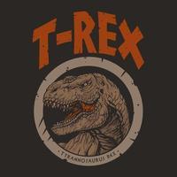 Dinosaurier Trex Nahaufnahme Illustration, Premium-Vektor vektor