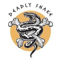 tödliche Schlangenknochen, Premium-Vektor vektor