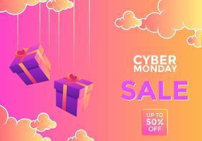 Skymning Cyber Monday Social Media Post Vector