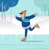 Menschen Eislaufen vektor