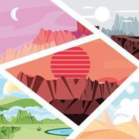 Landschaften aus verschiedenen Klimazonen vektor