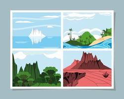 Fotos von wilder Landschaft vektor