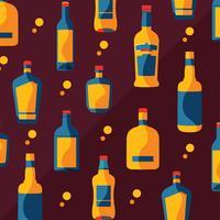 Bourbon-Flaschen-Muster-Vektor-Design