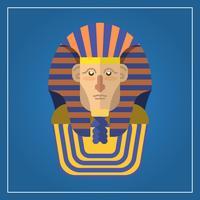 Flache moderne Pharao-Charakter-Vektor-Illustration